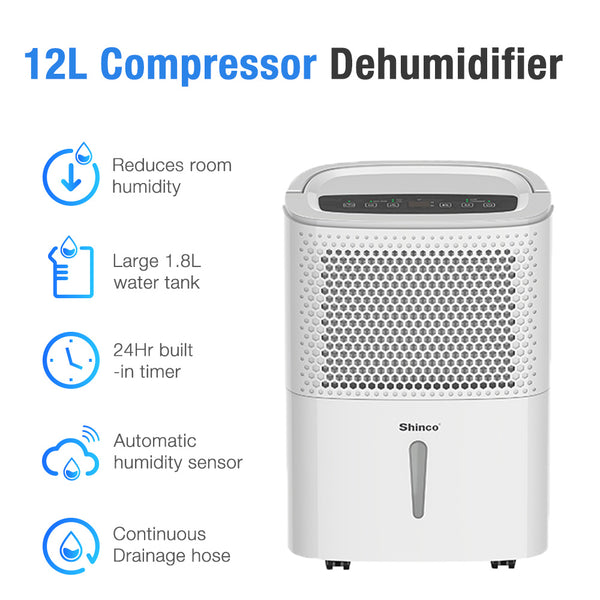 BRAND NEW SHINCO SDZ-10D 10L DEHUMIDIFIER WITH 12 MONTHS WARRANTY