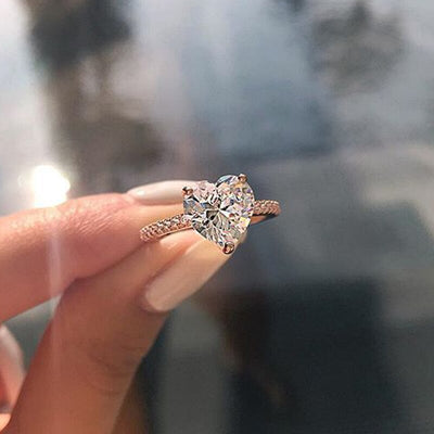 Crystal Heart Ring - Clout Hype