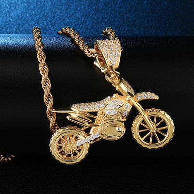 Iced Out Motorcycle Pendants