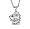 Lion Head Pendant With Chain