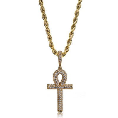 Ankh Cross Necklace - Clout Hype