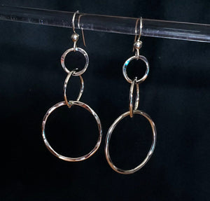 Tri-Circle Earrings