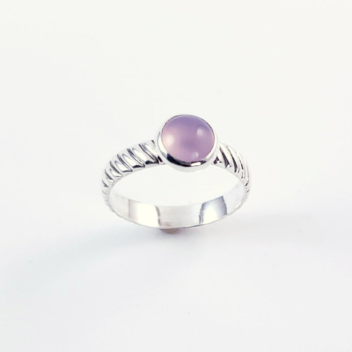 Lavender Chalcedony Ring