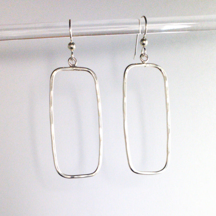 Rounded Rectangle Earrings