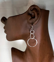 Load image into Gallery viewer, Tri-Circle Earrings