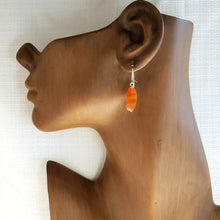 Load image into Gallery viewer, Carnelian Twist Drop Earrings