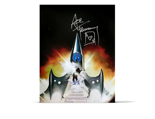 Ace Frehley - 'Space Invader' Lithograph - Silver Autograph