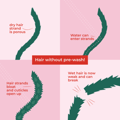 water damage to hair strands