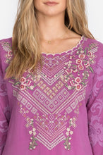 Load image into Gallery viewer, JOHNN WAS - Adonia Tunic - DARK ORCHID
