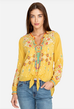 Load image into Gallery viewer, JOHNNY WAS - Donya Top - BAMBOO/ MUSTARD