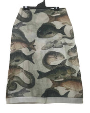 Load image into Gallery viewer, MEGAN SALMON - Mosaic Fish A-Line Skirt - NATURAL WORLD