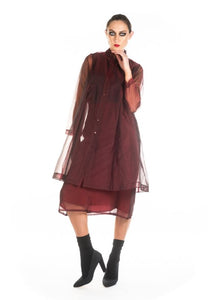 MEGAN SALMON - Silk Organza Hamlet Coat - SHIRAZ