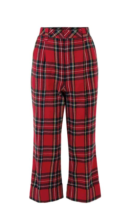 COOPER - Room for Squares Trouser - Red Tartan