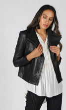 Load image into Gallery viewer, JUMP - Classic Black Leather Jacket - Size 14