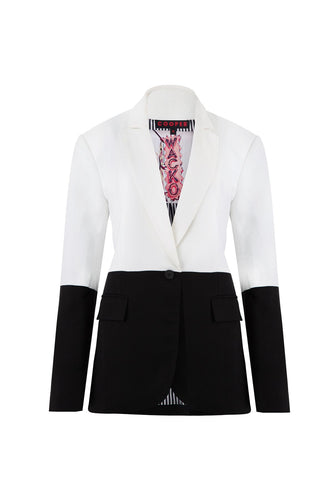 COOPER - Blazers Edge in Black and Ivory - Size 16