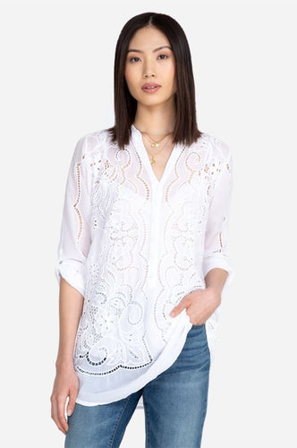 JOHNNY WAS - Cauis Tunic - WHITE
