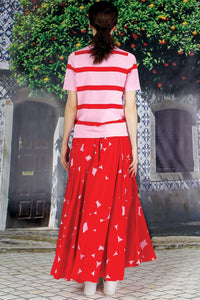 COOPER - Circle of Life Skirt in Red Spot - Size 12
