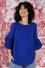 Load image into Gallery viewer, CURATE by Trelise Cooper - Take Crepe Top in Cobalt