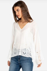 JADE by JOHNNY WAS - Colette Eyelet Top