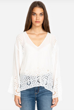 Load image into Gallery viewer, JADE by JOHNNY WAS - Colette Eyelet Top