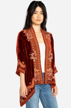 Load image into Gallery viewer, JOHNNY WAS Elim Velvet Draped Cardigan