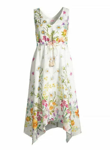 JOHNNY WAS - Flaria V-Neck Dress - FLORAL