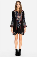 Load image into Gallery viewer, JOHNNY WAS - Gerona Tunic Dress - BLACK