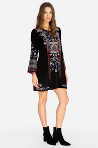 JOHNNY WAS - Gerona Tunic Dress - BLACK