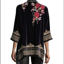Load image into Gallery viewer, JOHNNY WAS - Meri Velvet Draped Cardigan