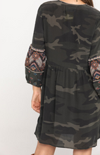 Load image into Gallery viewer, JOHNNY WAS - Molly Jo Paris Silk Camo Dress