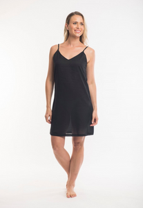 ORIENTIQUE - Cotton Slip - BLACK
