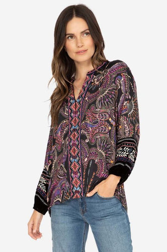 JOHNNY WAS - Paris Effortless Blouse - Size 18