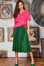 Load image into Gallery viewer, CURATE By Trelise Cooper - Side Pleat Skirt in GREEN
