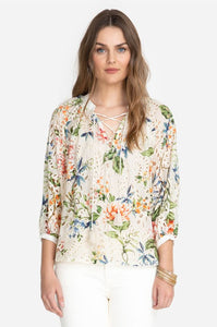 JOHNNY WAS - Sonnet Peasant Top - FLORAL