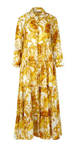 COOP by Trelise Cooper - Tiers Go By Dress - GOLD LION