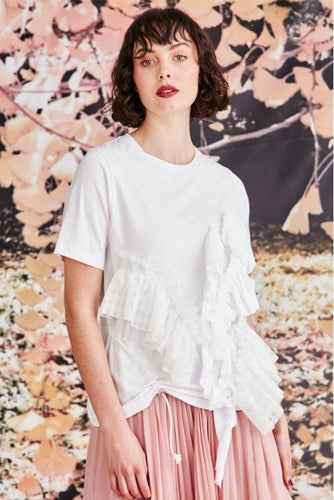 Trelise Cooper COUTURE - Frilled With Joy T-Shirt - WHITE