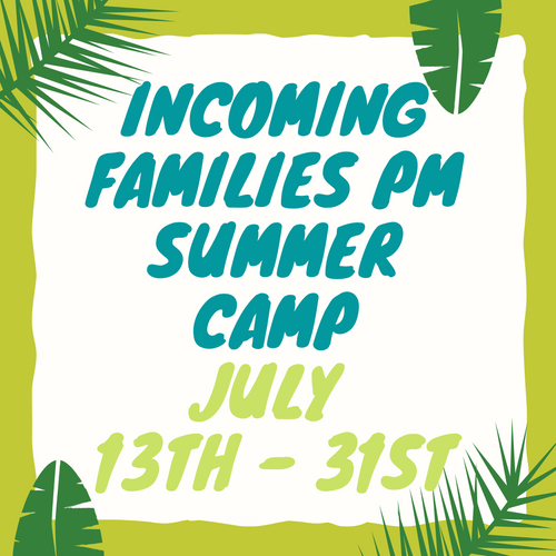 Incoming Green and Yellow Room Camp: PM SESSION