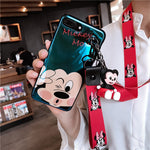 Super-cute animated characters phone case & strap