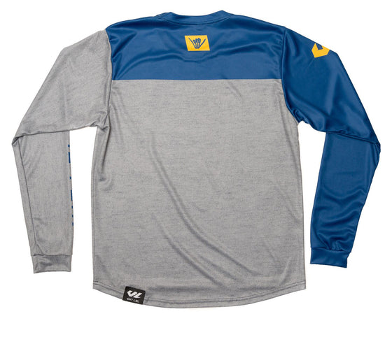 Finish Line Long Sleeve Jersey Navy & Heather