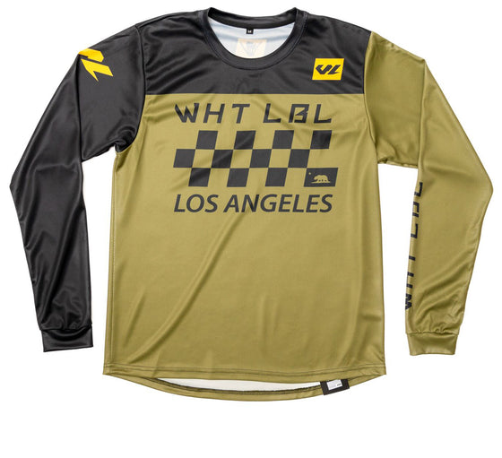 Finish Line Long Sleeve Jersey Black & Olive