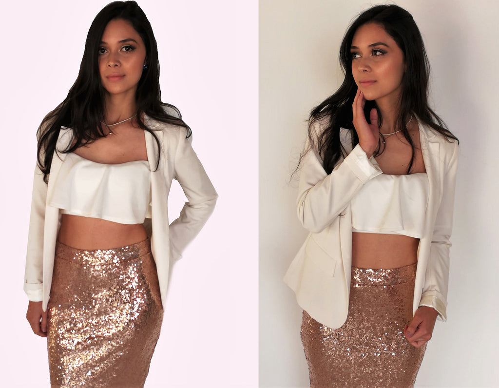 Agnes gold sequin set