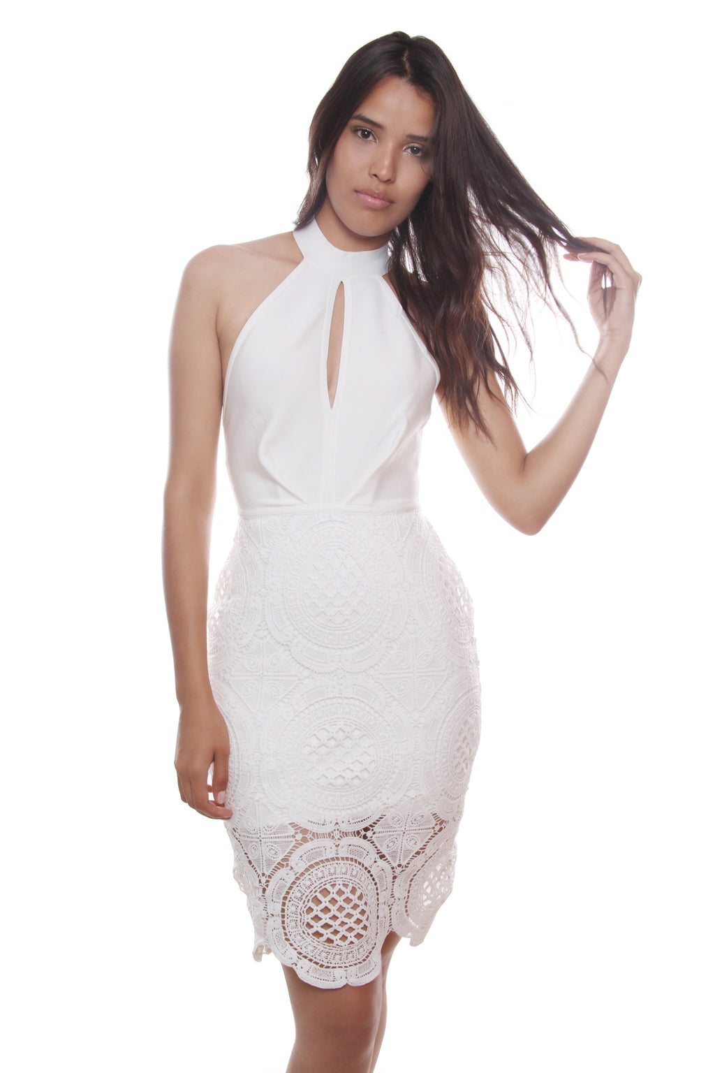 Summer Halter White Bandage Dress