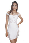 Maria Off Shoulder White Bandage Dress