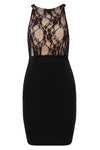 Odalis Black Backless Bandage Dress
