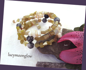 Mother of Pearl Shell Wrap Bracelet