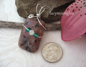 Wrapped Jasper Pendant Necklace