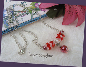 Hand Woven Red Crystal Necklace
