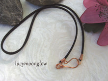 Load image into Gallery viewer, Copper Teardrop Wire Wrapped Necklace