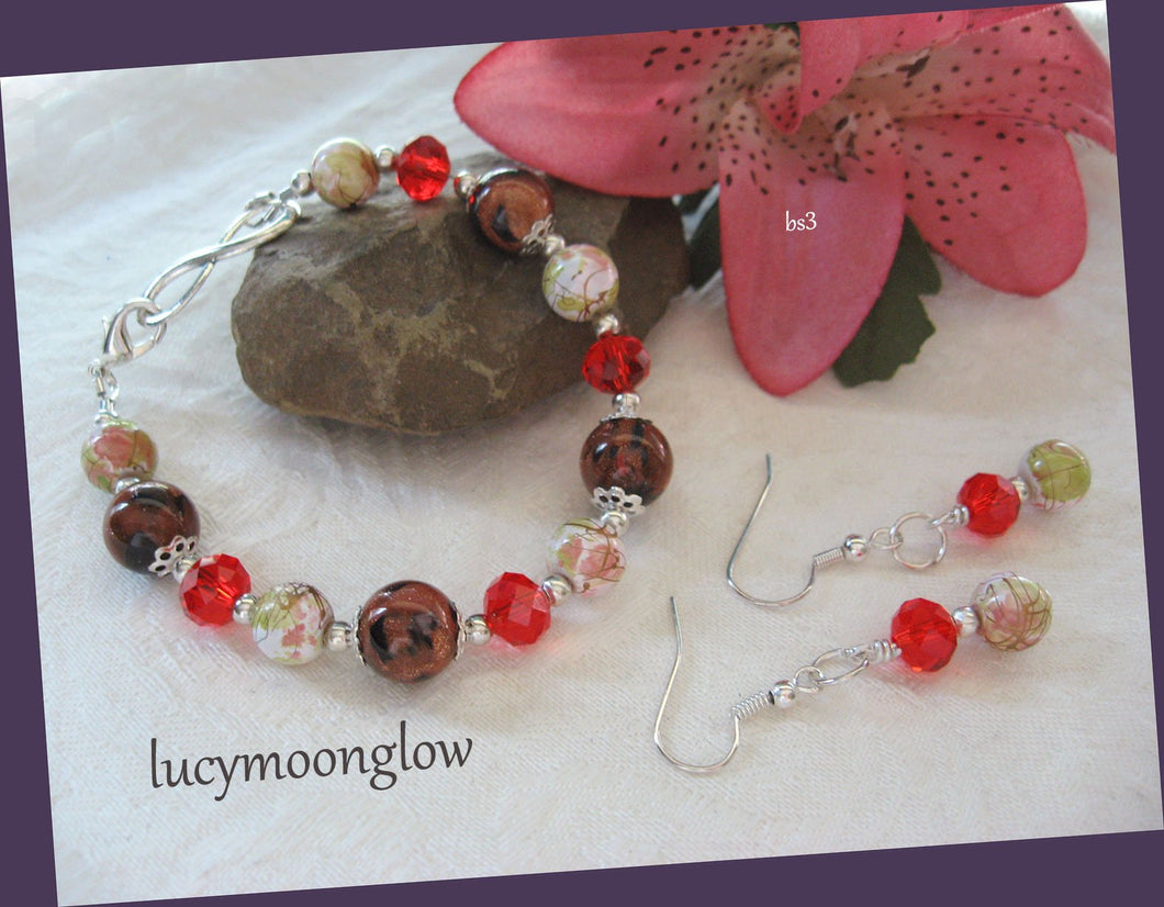 Gemstone Bracelet & Earring Set