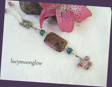 Load image into Gallery viewer, Red Kiwi Jasper Necklace